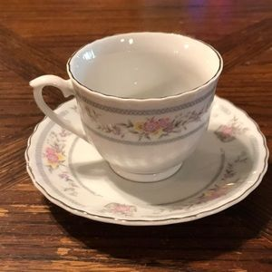 """Vintage standard size cup/saucer marked """"china"""""""